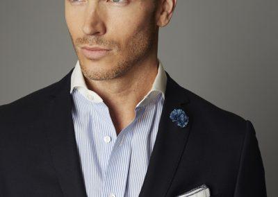 Navy Blue Brass Button Blazer