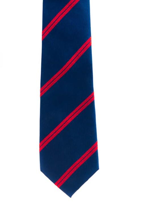 Blue w/ Red Double Stripe Tie