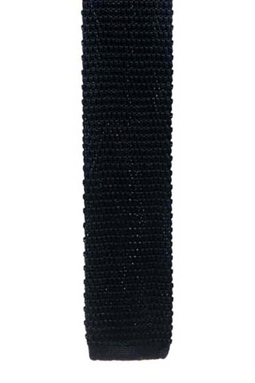 Black Knit Pattern Tie