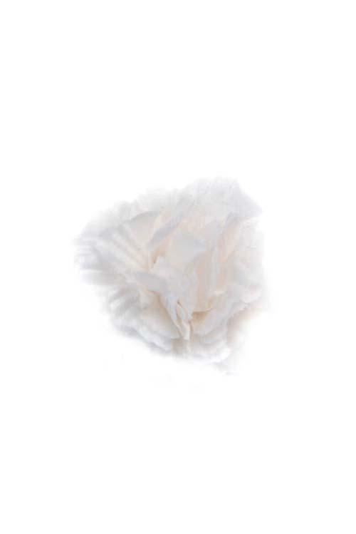 White Silk Lapel Flower