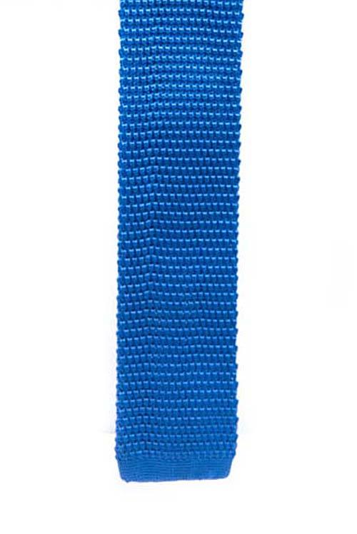 Cornflower Blue  Knit Pattern Tie
