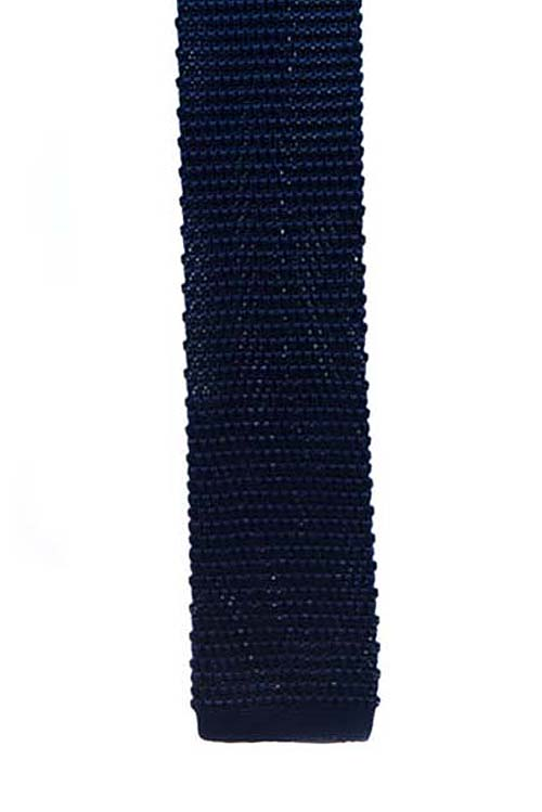 Navy Knit Pattern Tie