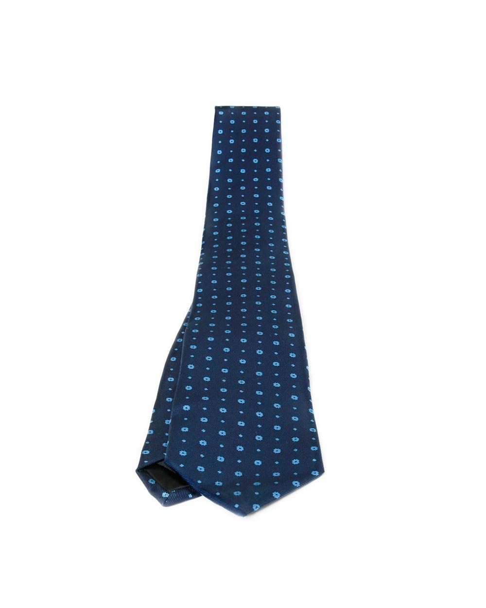 Blue & Sky Blue Flower Tie