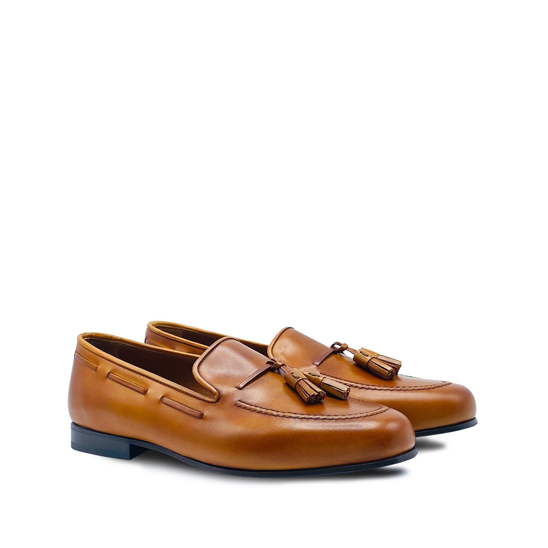 Langston – Tan Leather Tassel Loafers