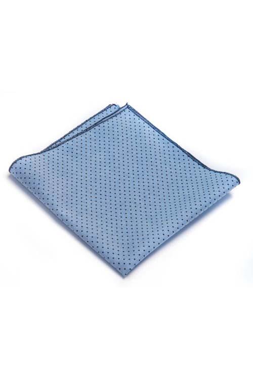 Blue Pindot Pocket Square
