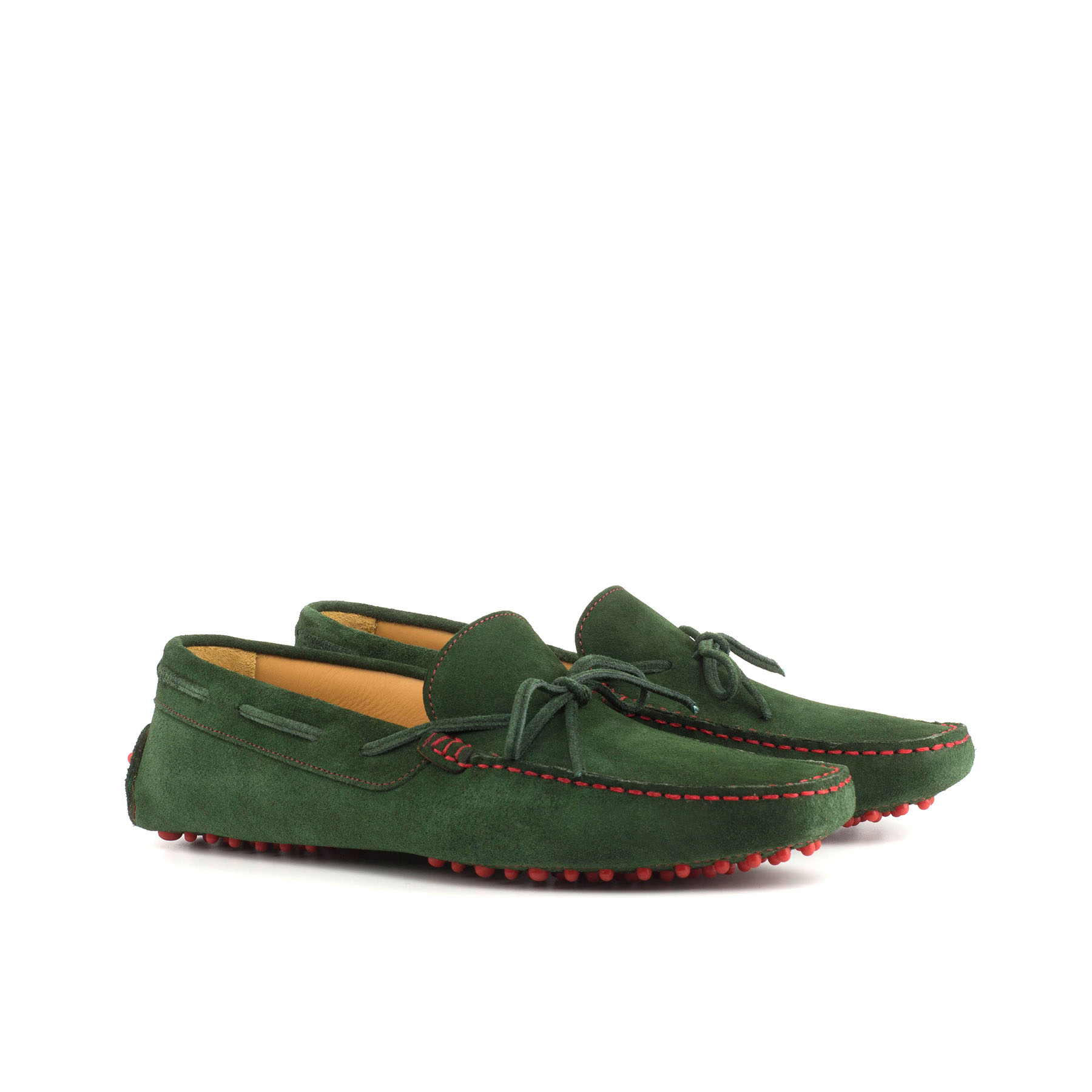 Green Suede Driving Shoe
