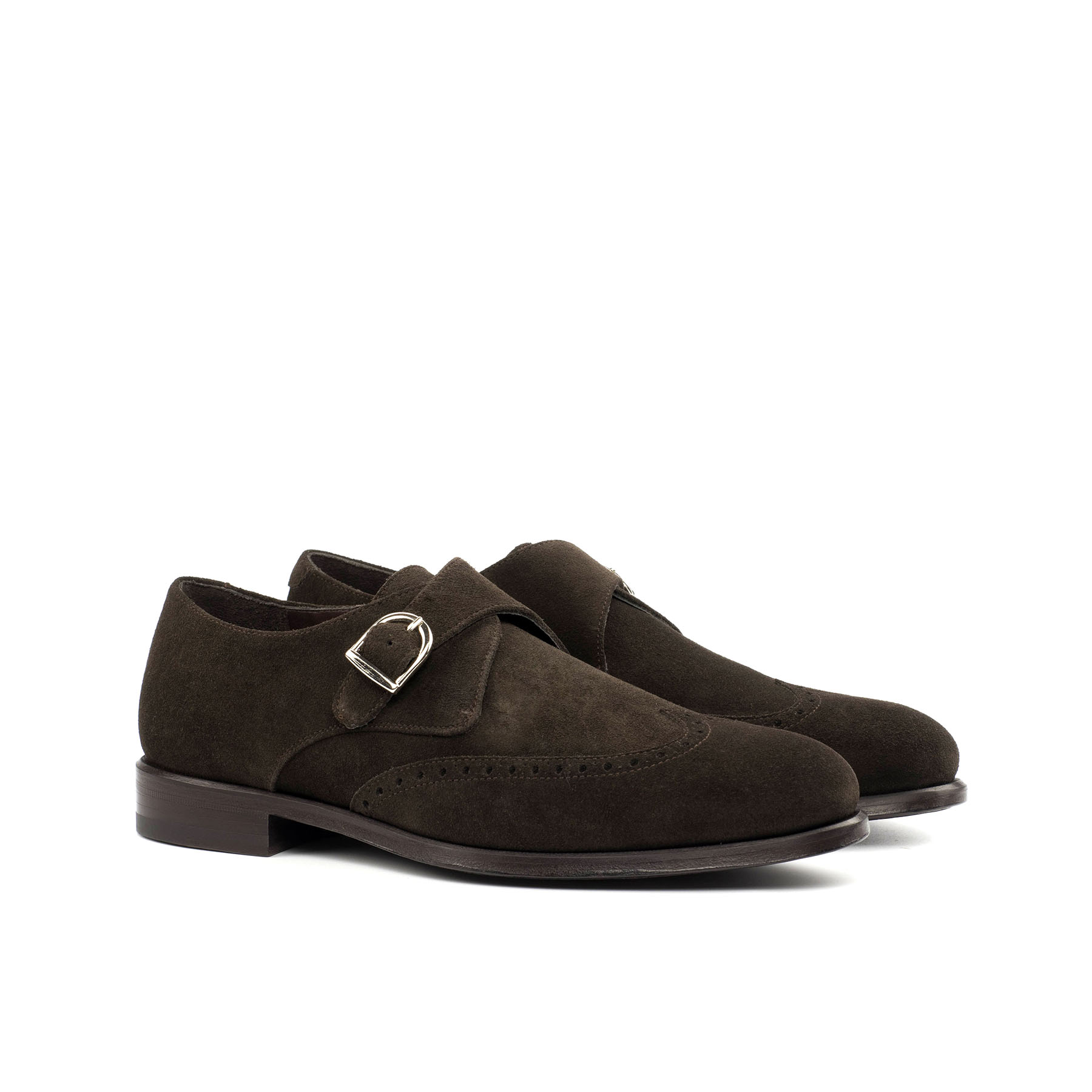 Brown Suede Single Monk